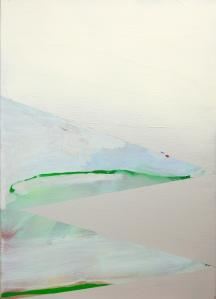 Catharina Dhaen -Untitled, 70x50cm, olie en spray op linnen, 2016